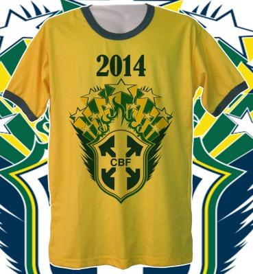 Que tal se preparar para a Copa do Mundo do Brasil com camisetas  personalizadas  Ou ainda 26dbd60de42
