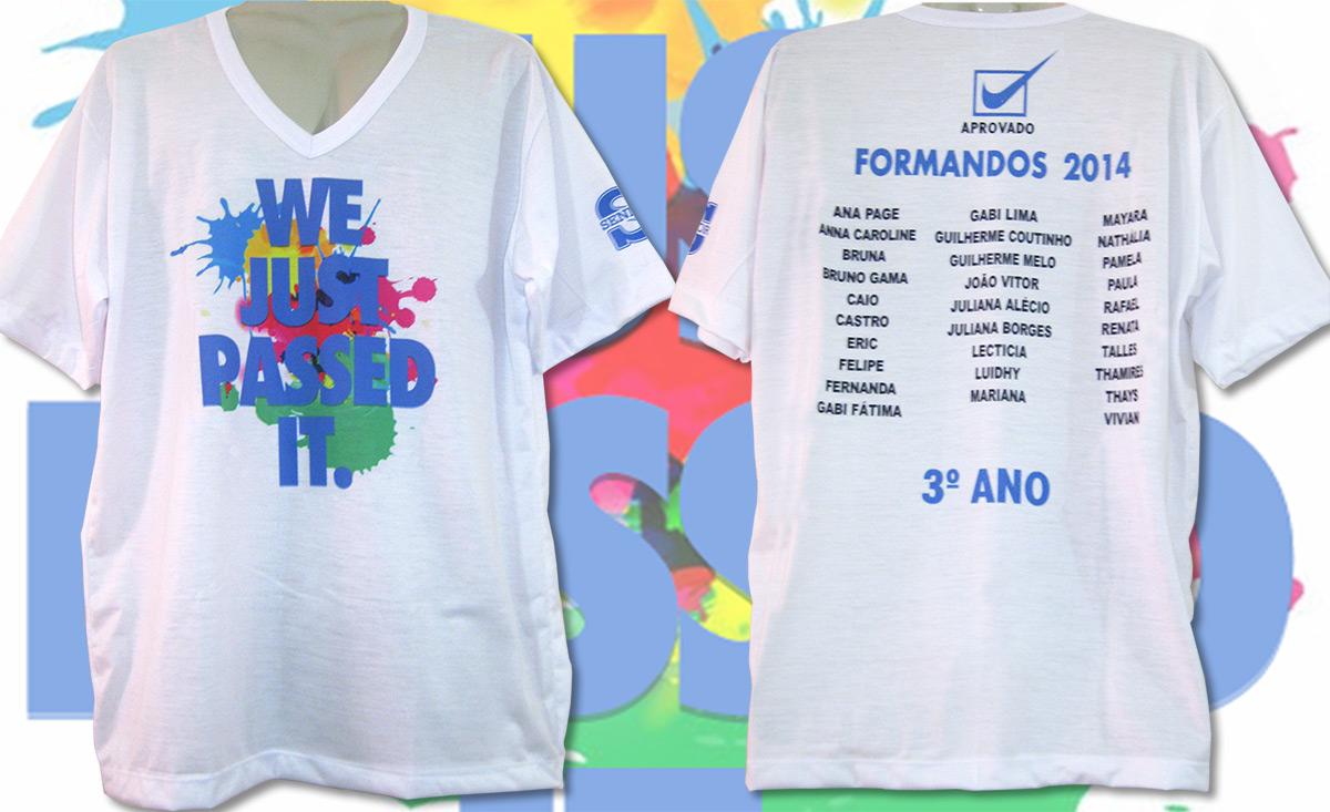 Camiseta De Formandos 3º Ano Kauffmann Estamparia