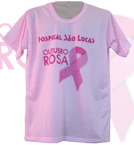 ab143501ac259 Camisetas  Outubro Rosa